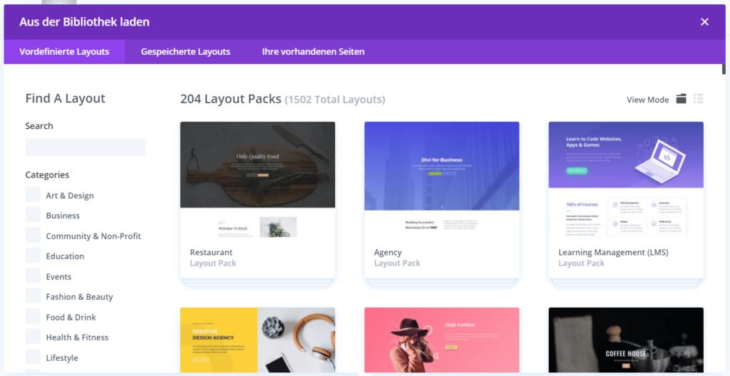 Divi Themes auf deiner WordPress Seite nutzen