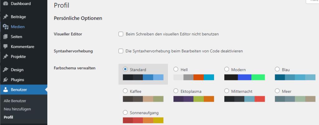 Mehr Farbpaletten mit WordPress 5.7