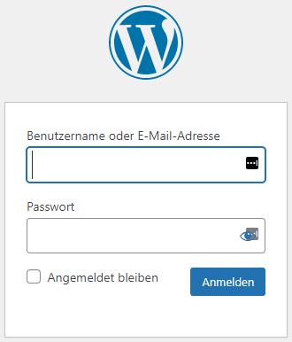 WordPress Anmeldemaske