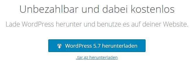 Eigene WordPress Webseite erstellen